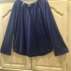 💙💙💙Cute Navy Shimmering Blue Blouse